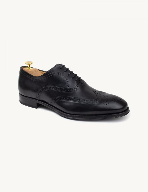 Sapatos Oxford com Brogues confortáveis - feitos à mão e em pele genuína.