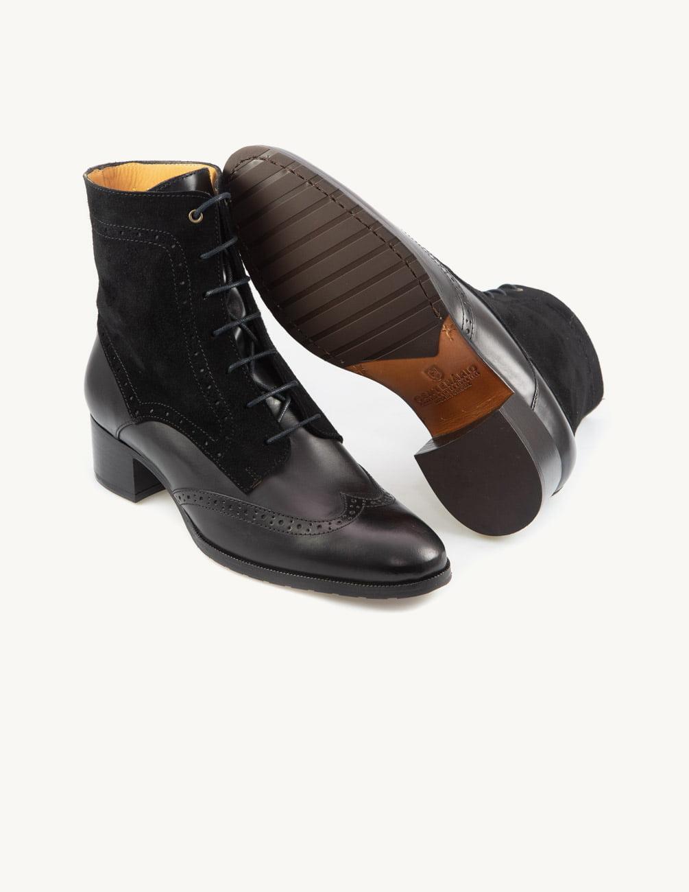 Botim de salto alto preto - versátil e elegante