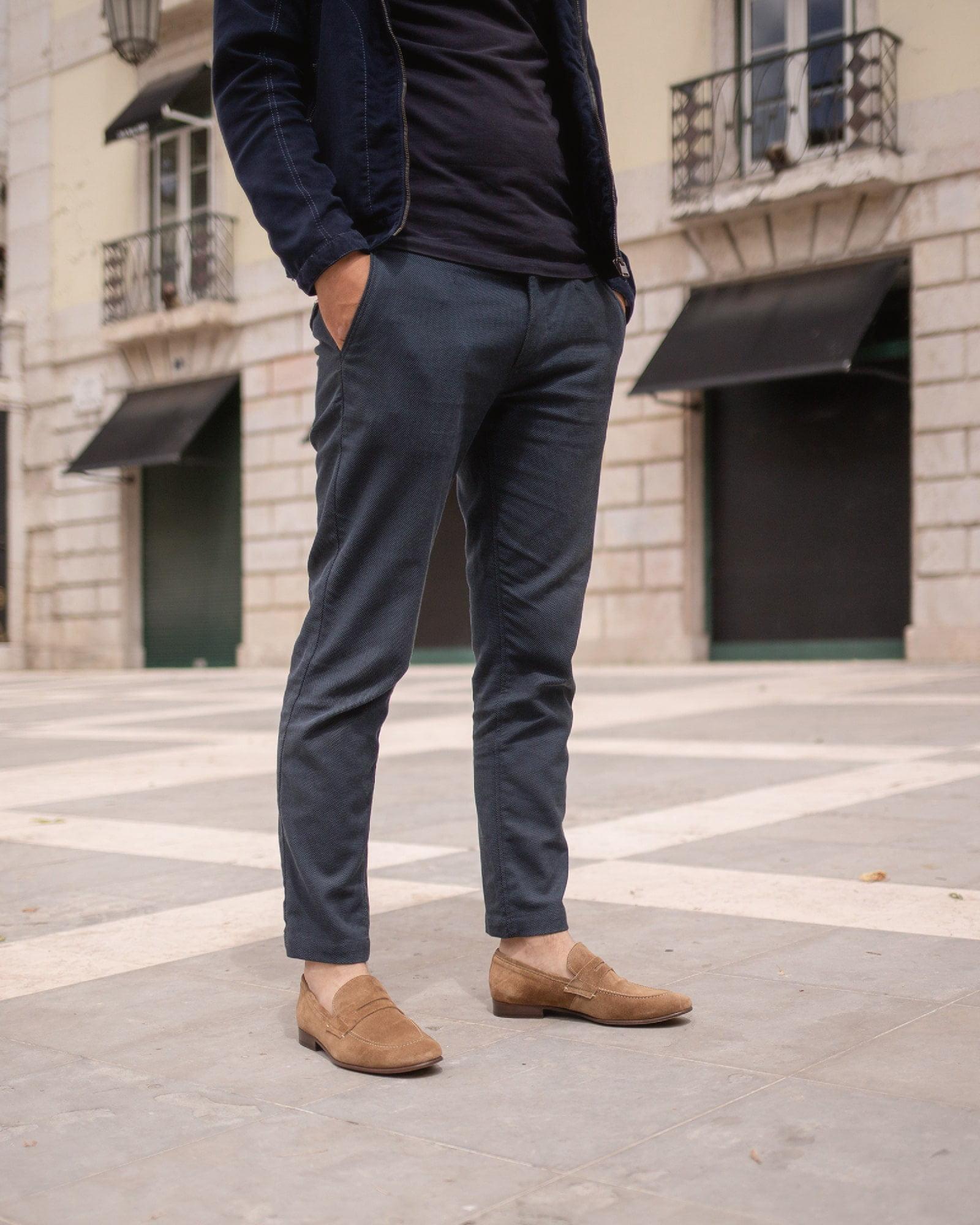 Loafers para homem - camurça castanho cor de tabacco